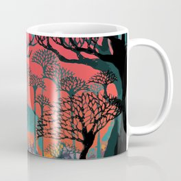 Forest Spirit Deer Woodland Illustration Coffee Mug