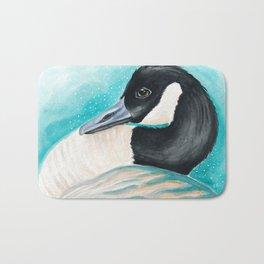 Canada Goose Teal Watercolor Art Bath Mat