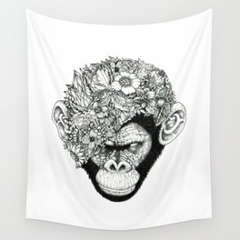 Botanical Ape Wall Tapestry