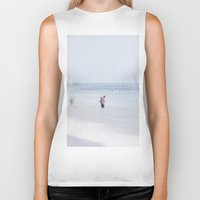 swimming Biker Tanks featuring Swimming by Pure Nature Photos