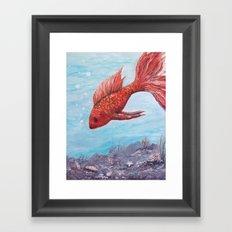 Orange Gold Fish Perhaps Framed Art Print