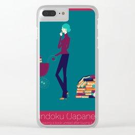 Tsundoku Clear iPhone Case