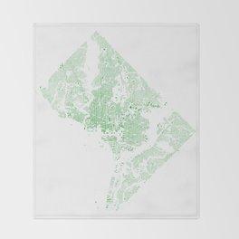Washington DC Green Building Map Throw Blanket