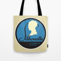 silhouette Tote Bags featuring Silhouette by One Little Bird Studio
