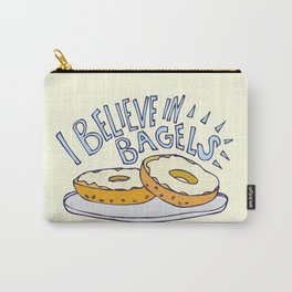 I Believe in Bagels Carry-All Pouch