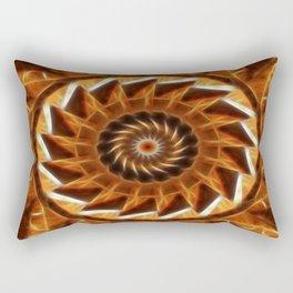 Brown Tan Gold Kaleidoscope Art 10 Rectangular Pillow