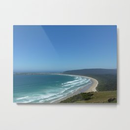 Beach and Forest Metal Print