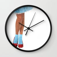 dorothy Wall Clocks featuring Dorothy by Brighid Ghysen