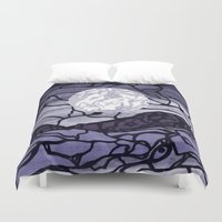 cracked Duvet Covers featuring Cracked by Mel Moongazer