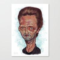 christopher walken Canvas Prints featuring Christopher Walken by Nicolas Villeminot