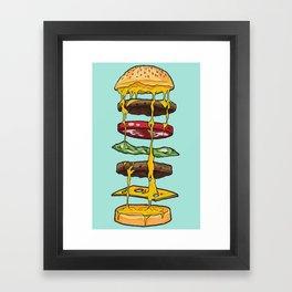 Anatomy of a Cheeseburger Framed Art Print