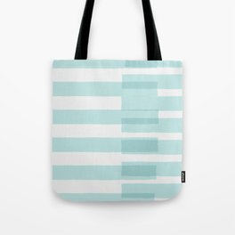Big Stripes In Turquoise Tote Bag