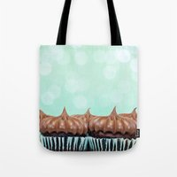 tooth Tote Bags featuring Sweet Tooth  by Laura Ruth
