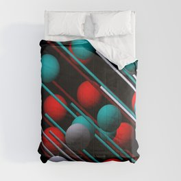 3 colors on black Comforters
