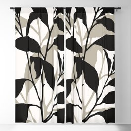 ABSTRACT ART - TROPICAL LEAVES 01 Blackout Curtain