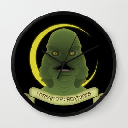 I Dream of Creatures Wall Clock