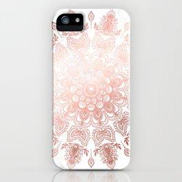 Dancing Mandala Rose Gold iPhone Case