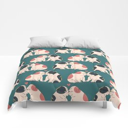 English Bulldog Kisses Comforters