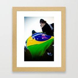 Brazilian Flag Framed Art Print