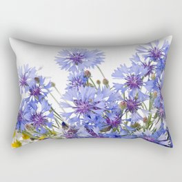 Cornflower and chamomile many flowers Rectangular Pillow