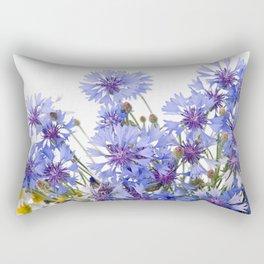 Cornflower and chamomile many flowers Rectangular Pillow