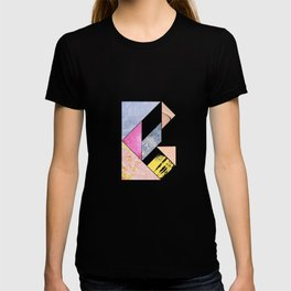 Collaged Tangram Alphabet - B T-shirt