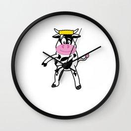 Floss Dance Move Cow Wall Clock