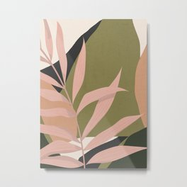 Tropical Leaf- Abstract Art 2 Metal Print
