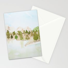 Pines and mountains Stationery Cards