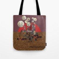 metropolis Tote Bags featuring Metropolis by beataS
