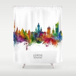 Leipzig Germany Skyline Shower Curtain