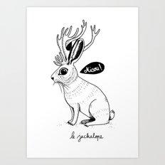 Le Jackalope Art Print