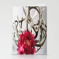 antler Stationery Cards featuring Antler Flower by Jodi Kassowitz Photography
