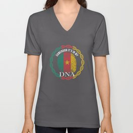 Cameroon Its In My DNA Unisex V-Neck