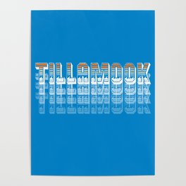 Seasons K Designs Tillamook Sunset Fade Poster