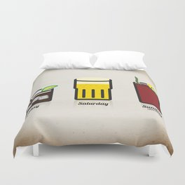Weekend Line up Duvet Cover