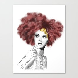 Curly woman Canvas Print