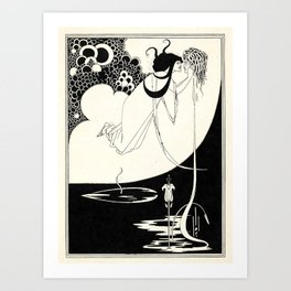 "Art by Aubrey Beardsley for ""Salome"" by Oscar Wilde (1893) Art Print"
