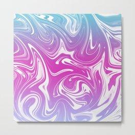 trippy marble Metal Print