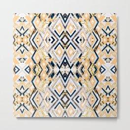 3dimensional marbled geometry pattern I Metal Print