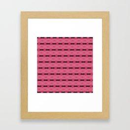 Pink and Black Diamond Pattern Framed Art Print