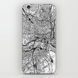 Vintage Map of Richmond Virginia (1934) BW iPhone Skin