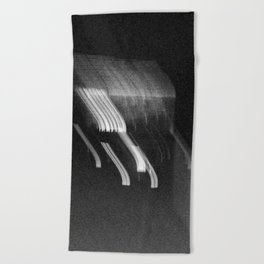 Being at the Drive-In B/W Beach Towel