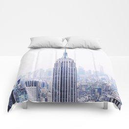New York City - Manhattan Cityscape - Empire State Building Photograph Comforters