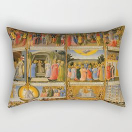 """Fra Angelico (Guido di Pietro) """"Scenes from the life of Christ"""" Rectangular Pillow"""