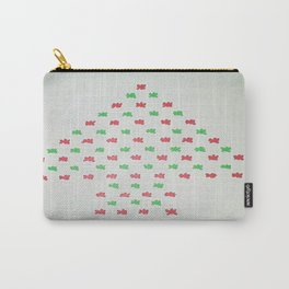 Christmas Tree in Red and Green Carry-All Pouch
