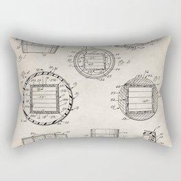 Whisky Barrel Patent - Whisky Art - Antique Rectangular Pillow