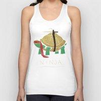 ninja turtle Tank Tops featuring ninja - red by Louis Roskosch