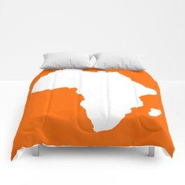 Tangerine Audacious Africa Comforters
