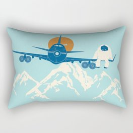 Hitchin' a Ride Rectangular Pillow